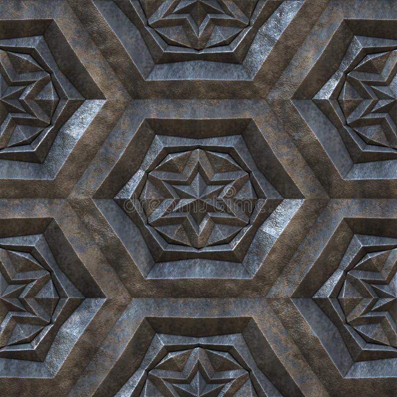 金属无缝的纹理 库存例证