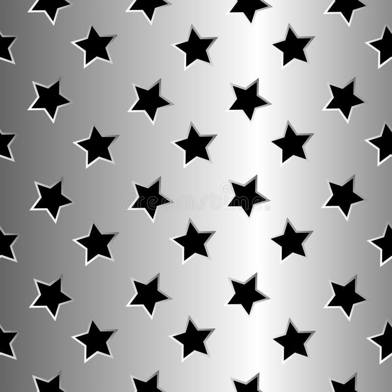 金属星形纹理 库存例证