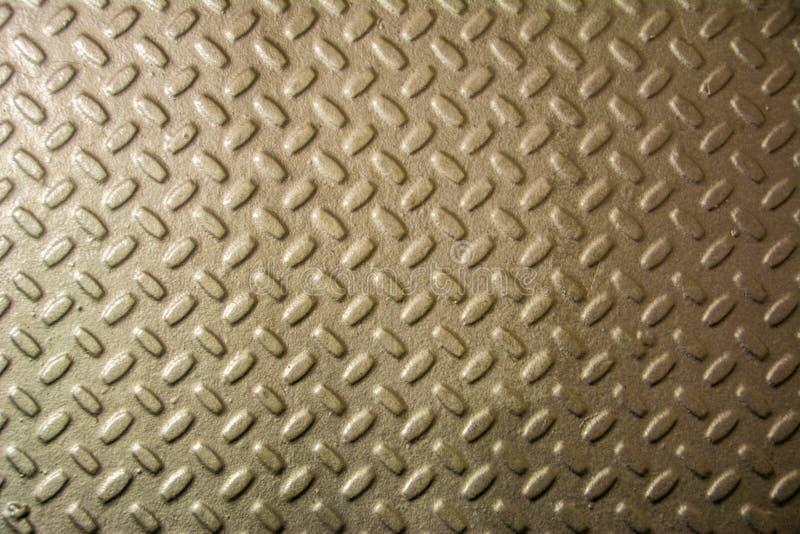金属有金刚石样式的底板 钢板金属纹理 免版税库存照片