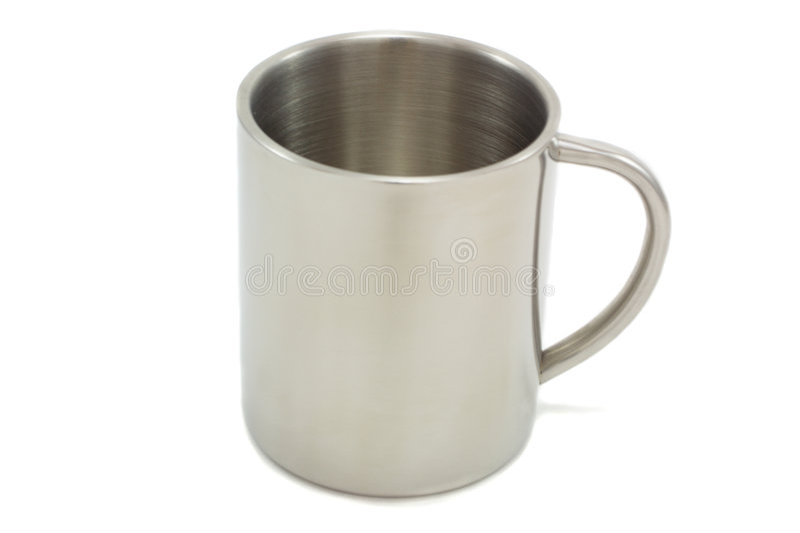 金属杯子 库存照片