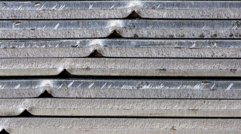 金属板被堆积的堆 免版税图库摄影