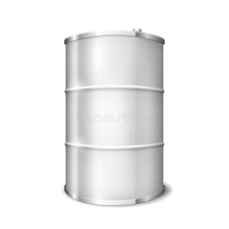 金属桶 库存例证