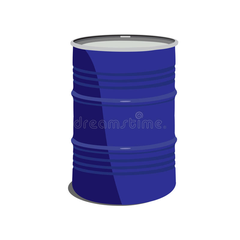 金属桶 向量例证
