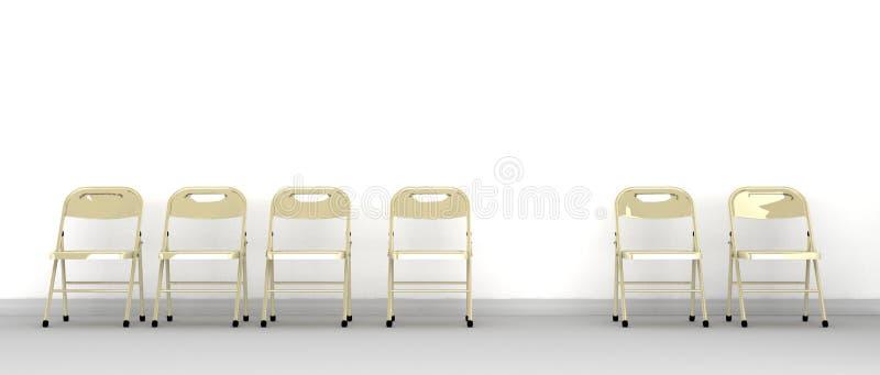 椅子与一失踪的 皇族释放例证