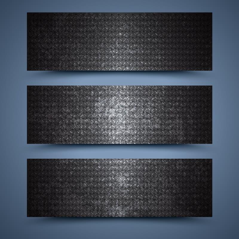 金属横幅模板。抽象背景 皇族释放例证
