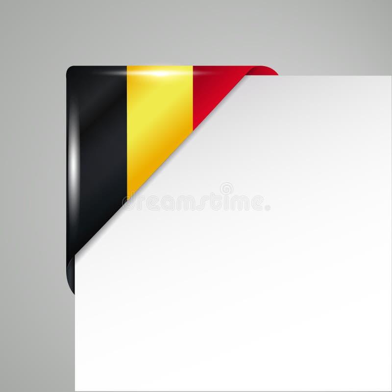 金属比利时旗子角落被隔绝的传染媒介例证 向量例证