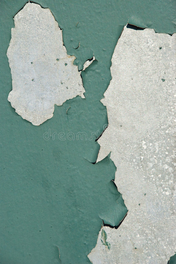 金属油漆削皮 免版税图库摄影