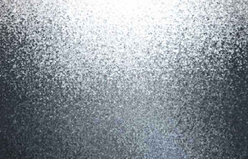 金属淡光抽象背景 银色五谷纹理 发光的灰色例证 库存照片