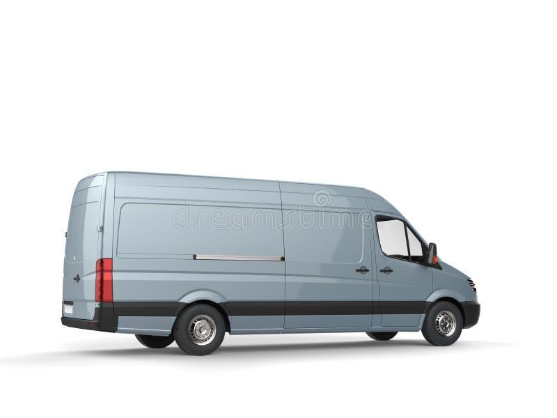 金属淡蓝的送货车 皇族释放例证