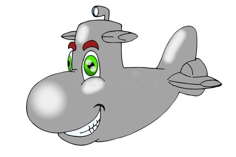 金属潜水艇 库存例证