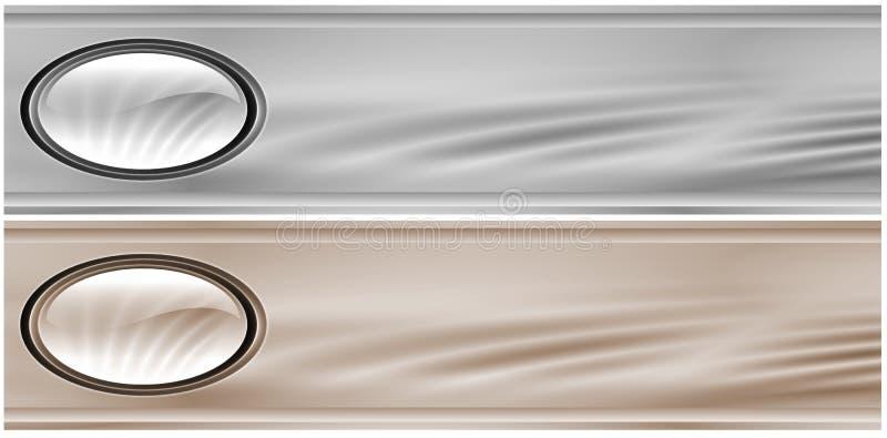 金属灰色的标头 向量例证