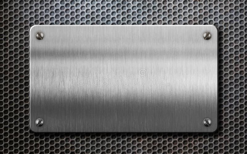 金属片在梳子背景3d例证 免版税图库摄影