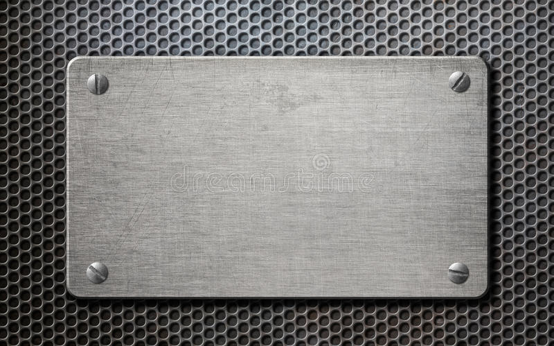 金属片在梳子背景3d例证 库存图片