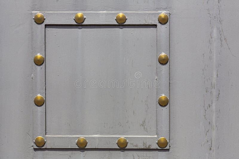 金属片的灰色被绘 库存图片