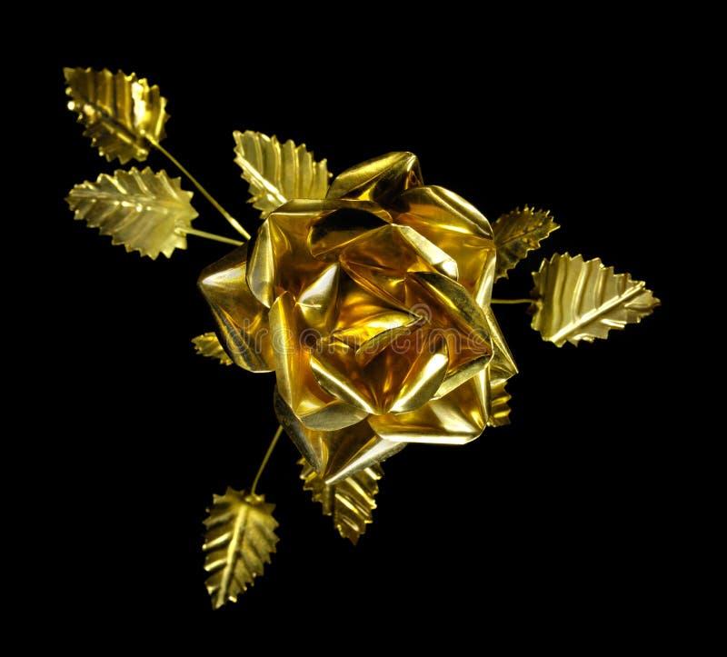 金属玫瑰黄色 免版税库存图片
