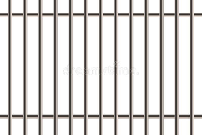 金属现实详细的监狱的创造性的例证禁止在透明背景隔绝的窗口 艺术设计监狱增殖比 库存例证
