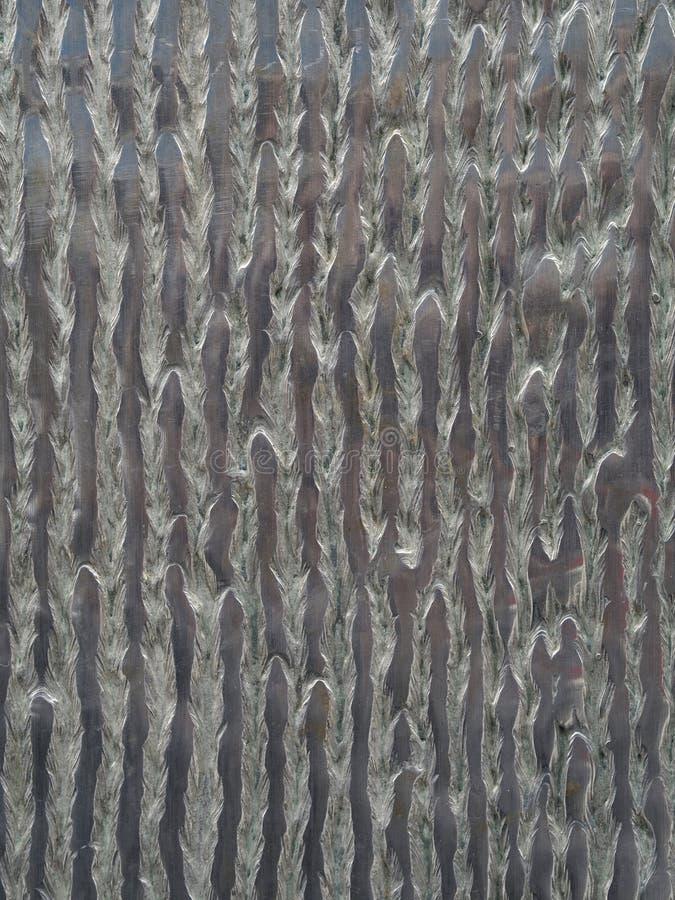 金属玻璃垂直的银色装饰纹理背景 库存图片