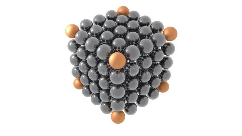 金属球形形成立方体3d例证 皇族释放例证