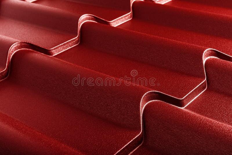 金属瓦片 现代屋面材料 对角纹理 库存照片