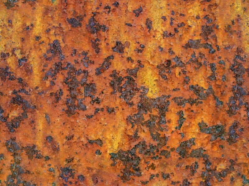 金属生锈的表面 无缝的纹理 免版税库存照片