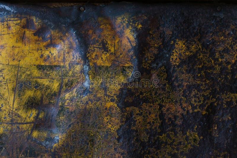 金属生锈的被腐蚀的纹理背景 库存图片