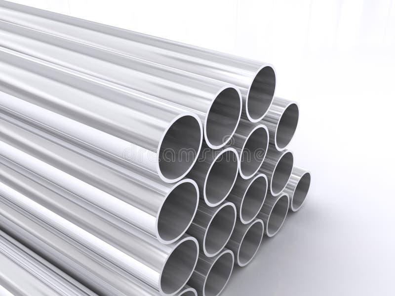 金属用管道输送筒形 库存例证