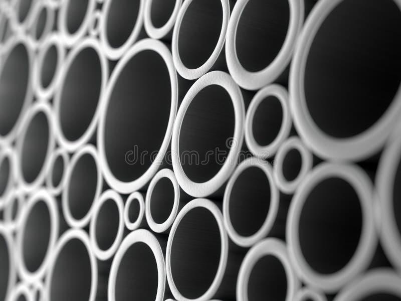 金属用管道输送背景 向量例证