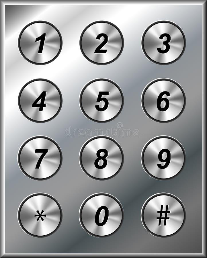 金属电话键盘 向量例证