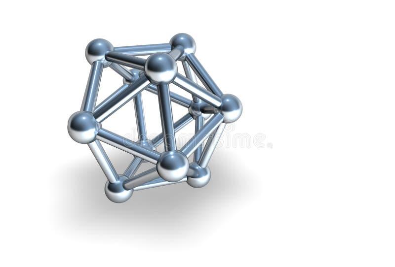 金属的isoca 库存例证