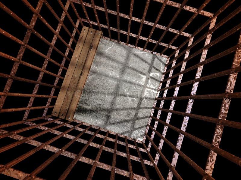 金属监狱的图象3d 免版税库存照片