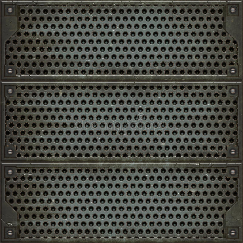 金属盖子(无缝的纹理) 向量例证