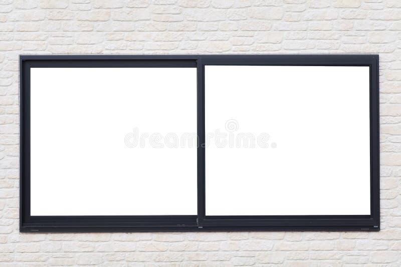 黑金属窗架 免版税库存图片