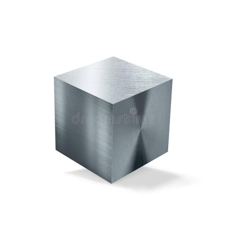 金属立方体 库存图片