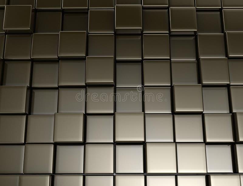 金属立方体 E 向量例证