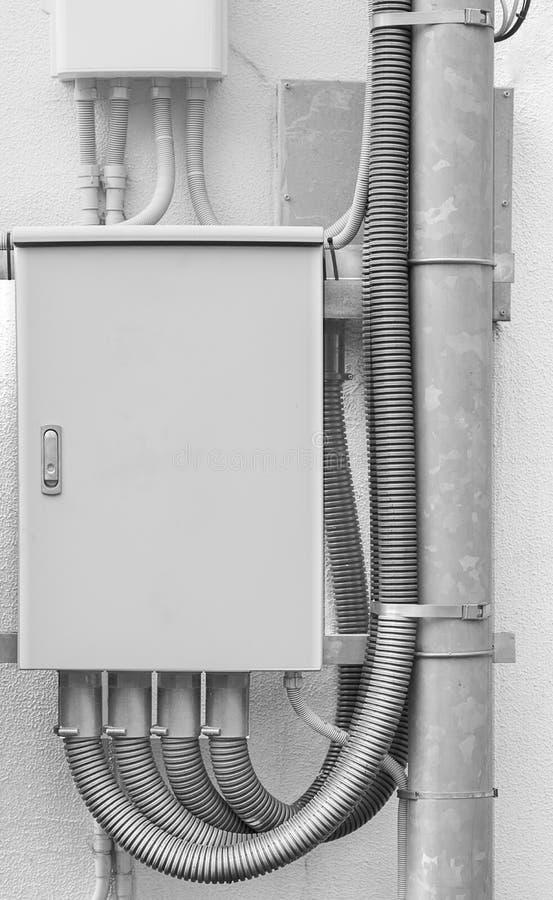 金属箱网络电缆 库存图片