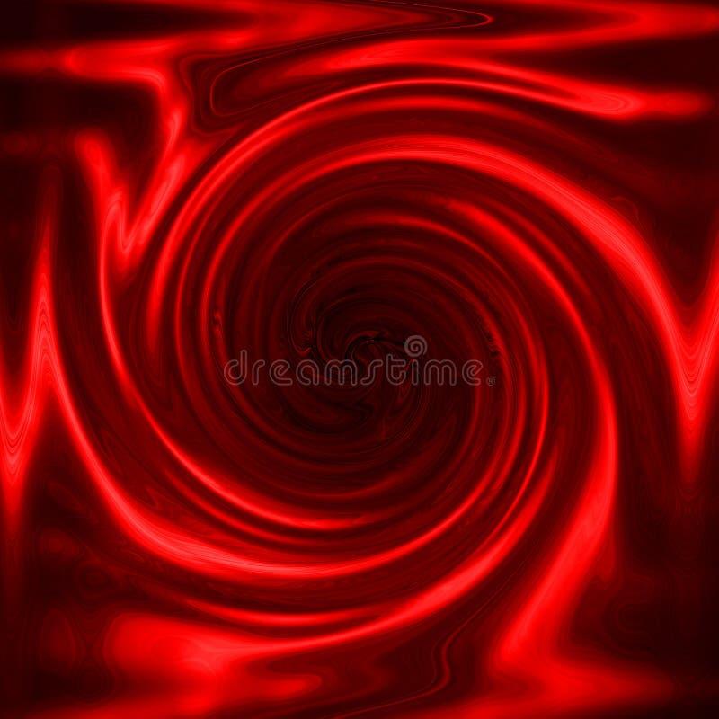 金属红色漩涡 皇族释放例证