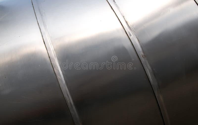 金属纹理管 库存图片