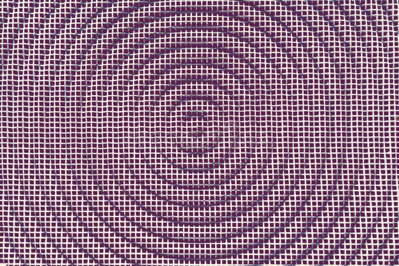 金属纹理背景 与圈子的方形的栅格 减速火箭的葡萄酒 库存照片