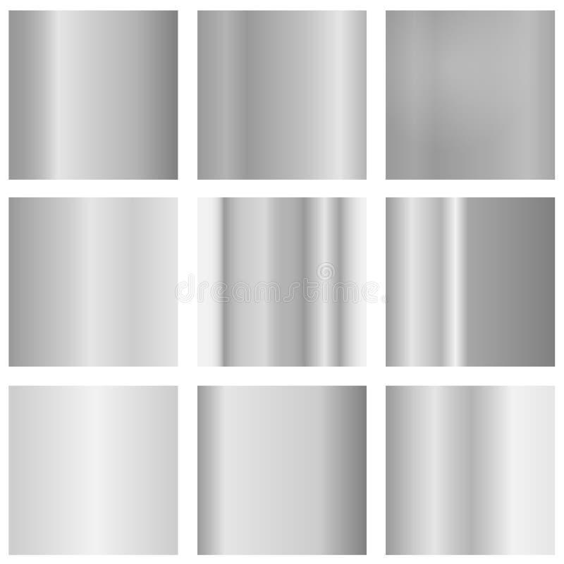 金属纹理,灰色金属现实纹理  现实金属 向量例证