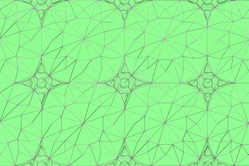 金属线线绿色表面上的 向量例证