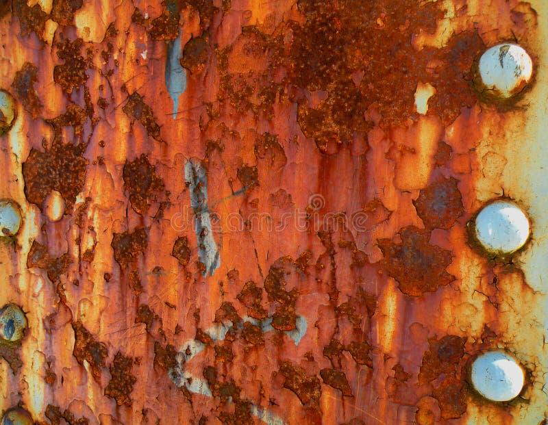 金属老红色铁锈 免版税图库摄影