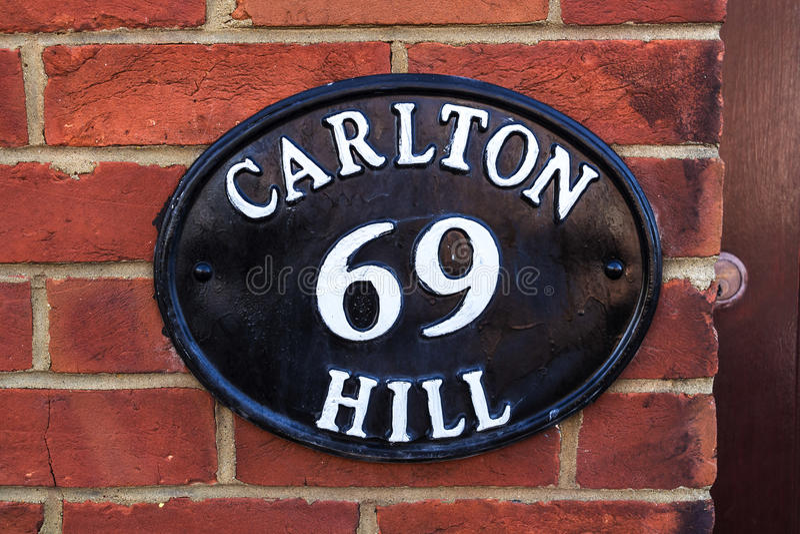 金属老车号牌,布赖顿,英国 库存照片