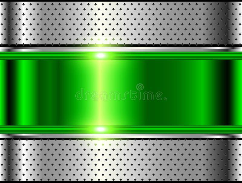 金属背景银绿色 皇族释放例证