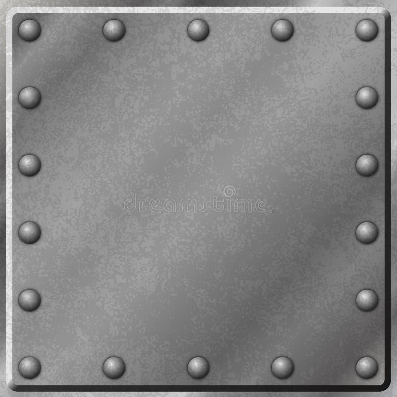 金属背景 向量例证