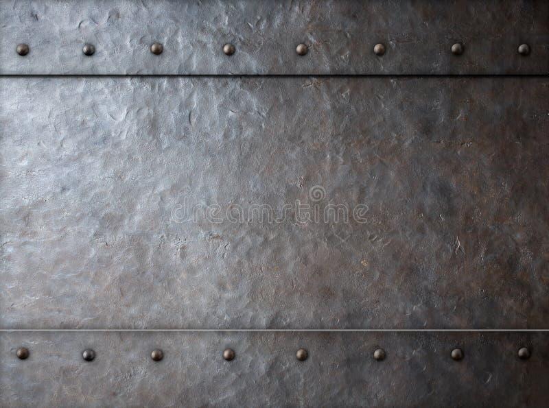 金属背景3d例证 库存例证