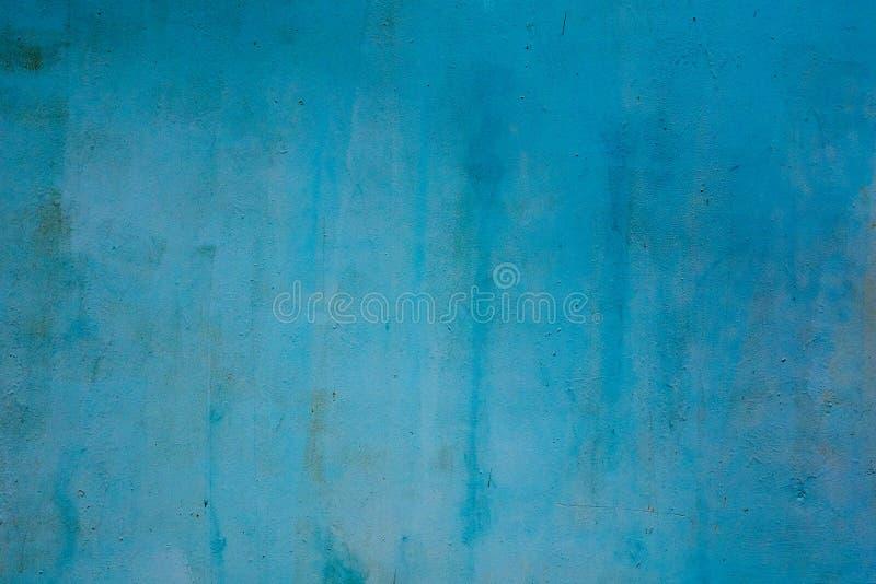 金属表面上的坚实蓝色绘画 抽象背景 库存图片