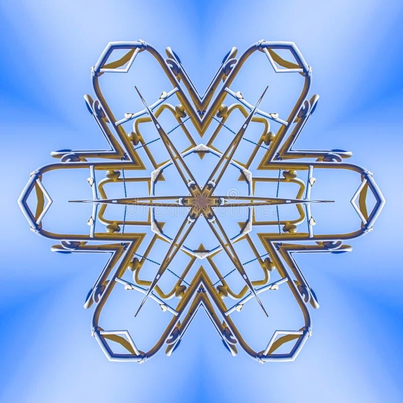 金属被仿造的射线从工作地点的 向量例证