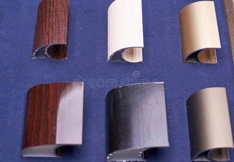 金属辅助部件的六质量 库存照片