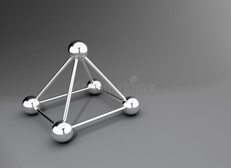金属金字塔 库存例证