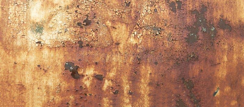 金属铁锈纹理摘要Grunge背景 免版税库存照片